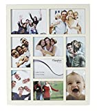 GAL9APCR Gallery High Quality Cream Seven 4x6in/A6 (10x15cm) & Two 5x7in (13x18cm) Beautifully Crafted Multi Aperture Photo Frame Wall Hang Only by Hampton Frames