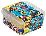 Hama 8743 - Maxiperlen Box Micky und die flinken Flitzer, ca. 900 Maxi Bügelperlen und Stiftplatte