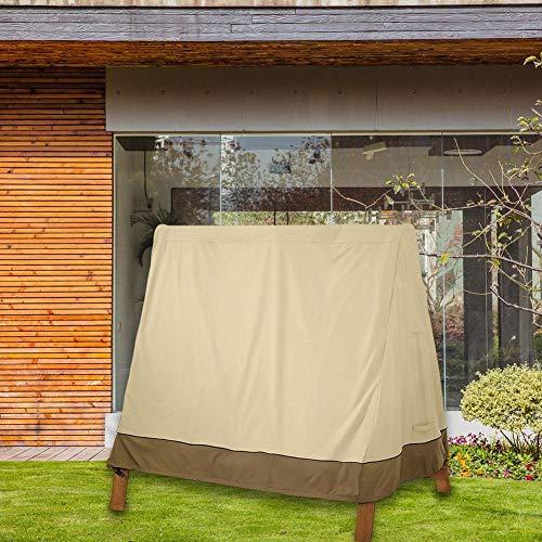 Patio Swing Cover Outdoor 3-Sitzer Hängematte Swing Glider Canopy Cover Wasserdichte 3-Sitzer Swing Cover Veranda A-Frame für den Gartenhof -