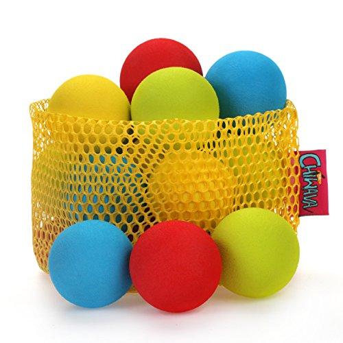 chiwava Schaumstoff Katzenspielzeug Ball Colorful Pure Color Katze Kätzchen Aktivität Spielzeug mit 4Größe