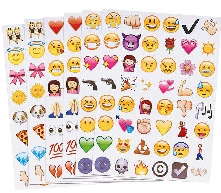 emoji aufkleber Emoji Sticker Whats App Tagebuch Sticker 19 Blatt 912 Stück