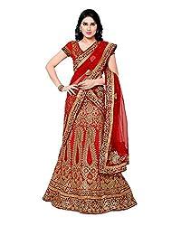 Naaidaakho Womens Banglory Silk Lehenga,16_SW_304_Red_Freesize