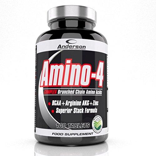 Anderson Amino-4 100 tablets BCAA + arginina AKG + Zinco aminoacidi ramificati