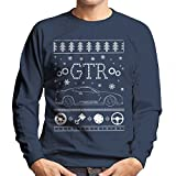 Cloud City 7 Nissan GTR Christmas Knit Men's Sweatshirt