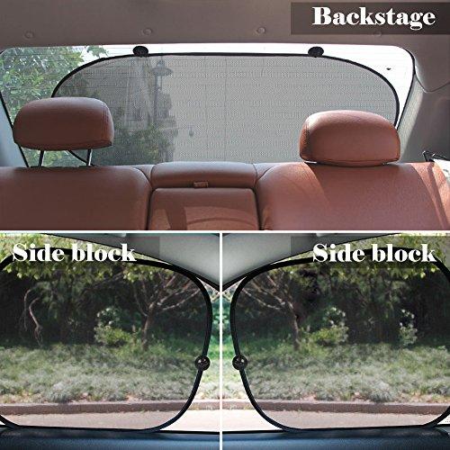 Tendine-Parasole-Auto-KOROSTRO-Parasole-per-Auto-Universale-con-Protezione-Raggi-UV-Nero-Parasole-posteriore-1-pezzi-Visiere-finestra-sole-laterali-2-pezzi-3-pezzi