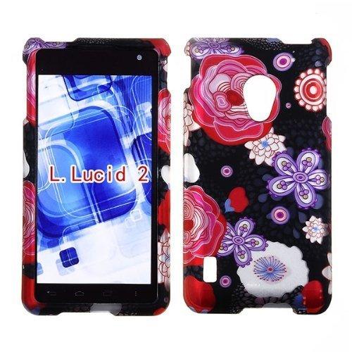 2D Japanese Flower LG Lucid 2II VS870Verizon Schutzhülle Cover Snap auf Cover Fällen Displayschutzfolie matt gummierte Oberfläche Hard - Telefon Lucid Für Fällen Lg Verizon