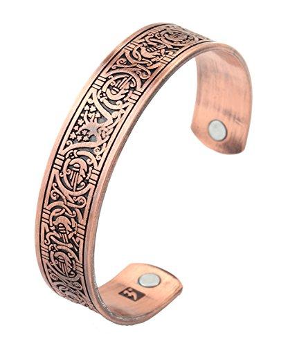 Gótico Viking Talisman Árbol de Vida Totem magnético salud Cuff pulsera hombres mujeres regalos joyería
