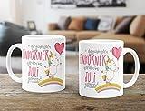 Geschenk-Tasse die besten Einhörner werden im Juli geboren MoonWorks® Geburtstags-Tasse einfarbig weiß unisize -