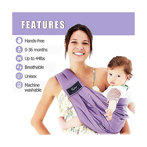 Cuby Baby Slings Carrier for Newborns and Breastfeeding (Purple) CUBY  4
