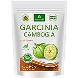 Garcinia Cambogia 90 capsule vegetali (4:1 estratto, 60% HCA) polvere di frutta con calcio, blocko grasso, fat blocker - garantito senza agenti distaccanti e stearati (1x90) (1x90)