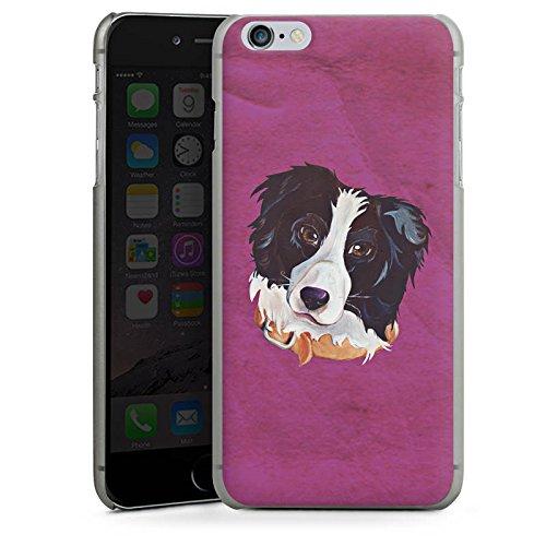 Apple iPhone 5s Tasche Hülle Flip Case Border Collie Hund Hunde Hard Case anthrazit-klar