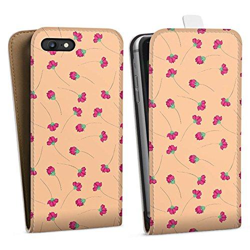 Apple iPhone X Silikon Hülle Case Schutzhülle Blumen Muster Ornamente Downflip Tasche weiß