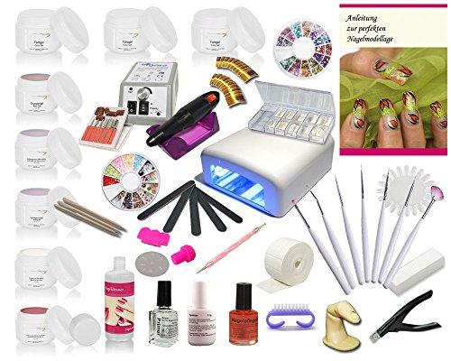 #Nagelstudio Starter Set UV Gel Set Inkl. Nagel Fräser UV Lampe UV Gel Nailart Ideales Starterset Künstliche Nagelmodellage#