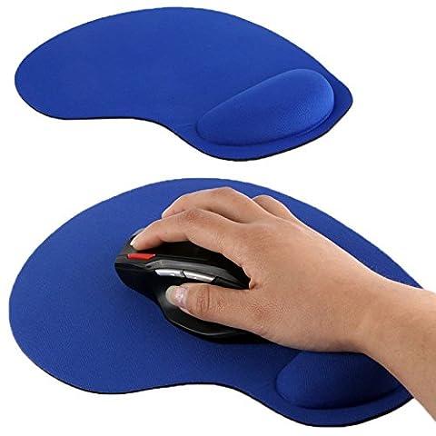 Tuff-Luv Ultradünne Gel & Mouse Pad mit eingebautem Handgelenkstütze (Blau)