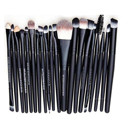 Scrox Maquillage Pro 20 pcs Brosses Set Eyeliner Fard À Paupières Lèvres Poudre Fondation Brosse