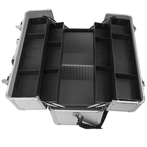 Alurahmenkoffer Werkzeugkoffer Etagenkoffer VARO + Fachbodeneinsätze abschließbar silber - 3