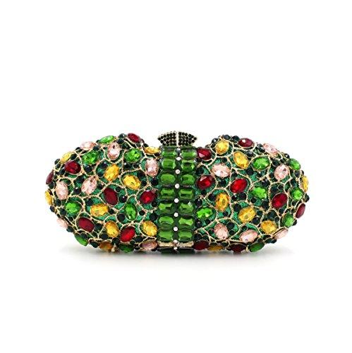 Lady Abendessenbeutel Kristall-Diamant-Diamant-Mappe Brautbeutel Handtasche Bankett-Paket picture color