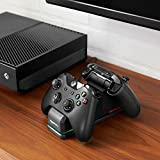 AmazonBasics Xbox One Dual Charging Station with 2 x Rechargeable Battery Packs