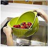 #3: ZZ ZONEX 1Pc Premium Quality Kitchen Drainer / Strainer Fruit Vegetable Rice Pulses Noodles pasta Washing Bowl Strainer-Random Color