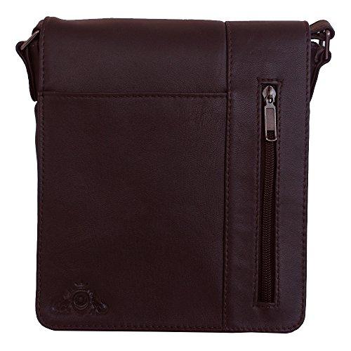 Jenes & Jandura Leder Mini Design Tasche Schultertasche Gürteltasche Reisetasche Ledertasche Handtasche Leder Tasche Braun
