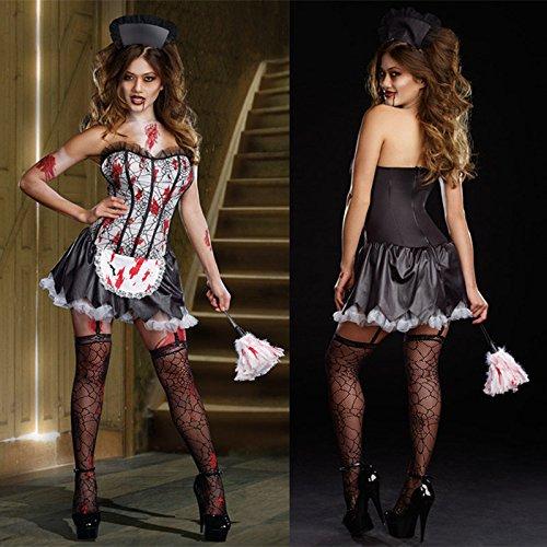 DLucc Halloween-Kostüm -Rollenspiel Krankenschwester schwarzen Rock Kostüme Vampir-Königin -