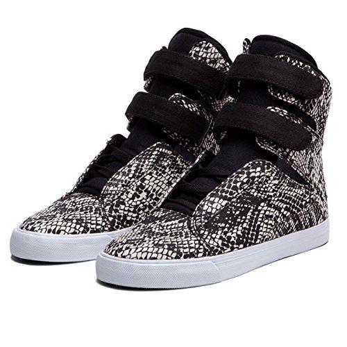 Shoes Supra WMNS SOCIETY BLK Snake Print/Gold–White, Schwarz - Schwarz - schwarz...