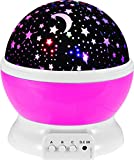 StillCool® Sun and Star lighting Lamp 4 LED beads 360 Degree Romantic Lamp Relaxing Mood Light Projector for Baby Nursery Bedroom Children Room and Valentine's Gift (Pink)