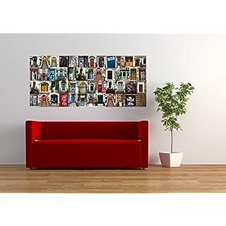 AG Design FTG 0940  Türen, Papier Fototapete - 202x90 cm - 1 Teil, Papier, multicolor, 0,1 x 202 x 90 cm