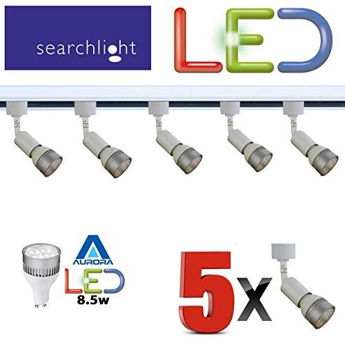 SEARCHLIGHT LED GU10 WHITE TRACK LIGHTING 5 X