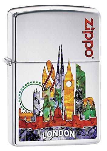 Zippo Unisex London Winddicht Feuerzeug, hochglanzpoliert, Chrom