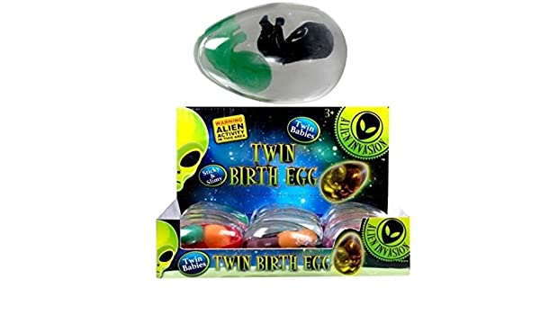 1 x ALIEN TWIN BIRTH EGG Baby Goo Birth pod for Kids Party Bag Filler Favour