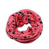 Kinder Loop Schlauchschal FORH Warm weich Baumwolle Schal Unisex Junge Mädchen Sterne muster mode Schal Winter Basic Halstuch ultraleichte Rundschal viele Bunte Farben (Pink)
