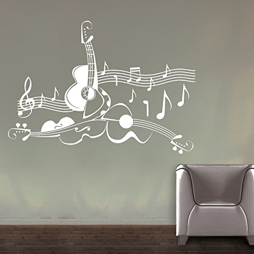 Love For Guitar Wall Sticker Decal  available at amazon for Rs.449