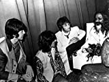 The Beatles sitting with Maharishi Mahesh Yogi Photo Print (76.20 x 60.96 cm)
