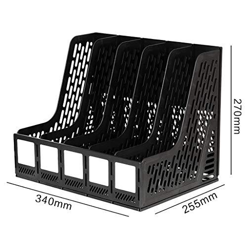 FPigSHS Aktenschränke Schränke Aktenbox Office-Aktenbox Desktop-Aktenhalter Aktenspalte Aktenkorb Bücherregal Tisch-Datenregal Verwendung for Schüler Ordner mit Mehreren Ebenen (Color : Black) -