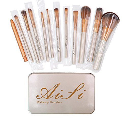 La Haute Set Poignée en Bambou Pinceaux de Maquillage professionnel