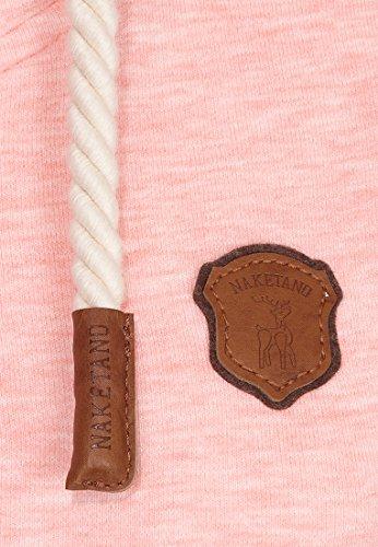 Naketano Blonder Engel IV W sweat zippé à capuche Sugar Pink Melange