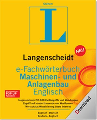 Langenscheidt e-Fachwörterbuch Maschinen-u.Anlagenbau Englisch [Download]