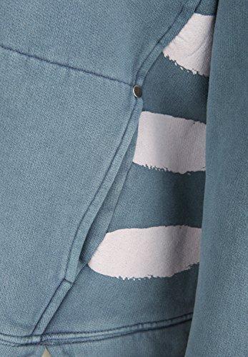 Phil & Lui - Veste Sweat - Décontracté - Uni - Manches Longues Femme China Blue
