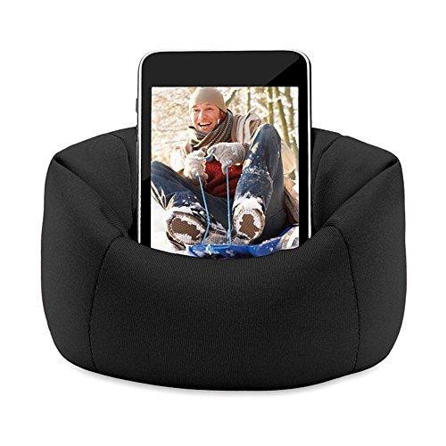 Bean Bag Mobile Holder Black Colour easy to keep any where for iPhone, iPod, Samsung Pouch by Aart Store  available at amazon for Rs.99