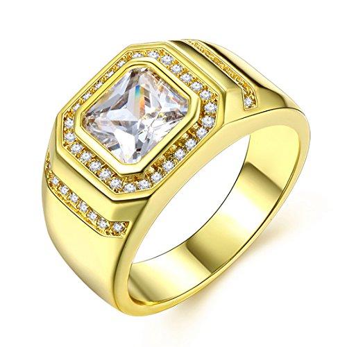 Cubic Zirkonia Ringe vergoldet 4mm Band Hochzeit Verlobungsringe für - Verlobungsring Vergoldet Box