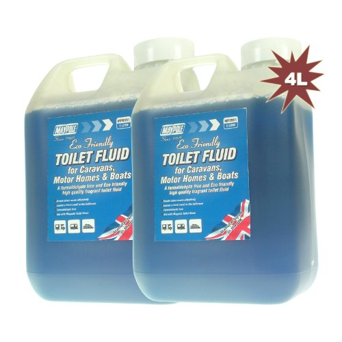 maypole-6991b-4l-caravan-portable-toilet-fluid-liquid-cleaner-2x2l