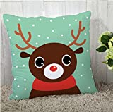 The Purple Tree Merry Christmas Cushion Cover (16x16 inches) 1 pc , christmas cushion covers , christmas decorations, christmas gifts , christmas décor STFC00377