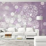 murando - Fototapete 350x245 cm - Vlies Tapete - Moderne Wanddeko - Design Tapete - Wandtapete - Wand Dekoration - Pusteblume Blumen bokeh Abstrakt violett Lavendel f-C-0040-a-c