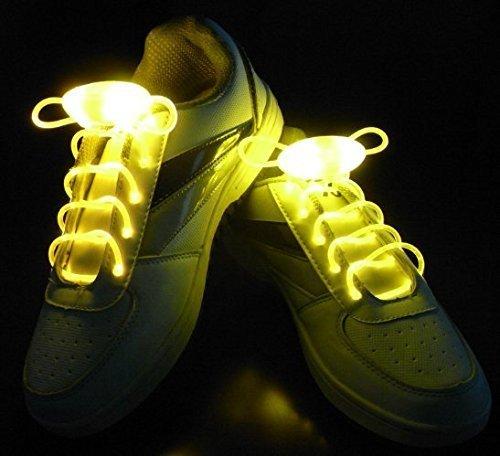 Schnürsenkel Blinken Schnürsenkel für Disco Party Night Running 1Paar Gelb ()