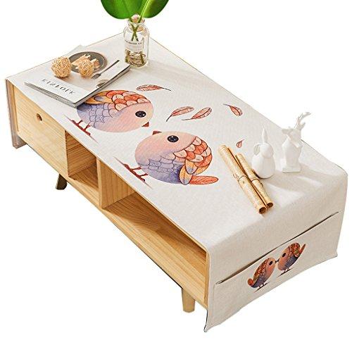 CJH Nordic Couchtisch Tuch Rechteckigen Wohnzimmer Tischdecke Tuch Tischdecke Home Cover Tuch Moderne Baumwolle Kleine Frische ( Size : 60*180cm )
