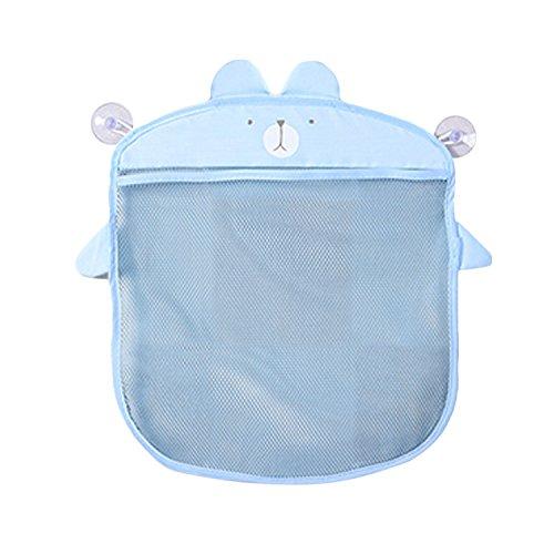 BEETEST Multifunktionale Cartoon Mesh Baby Badespielzeug Hängen Aufbewahrungstasche Badezimmer Kosmetik Korb Für Küche Bad Balkon Tür Blau ()
