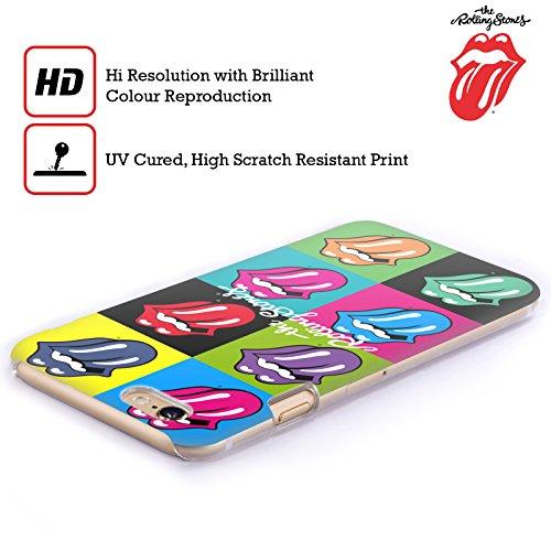 Offizielle The Rolling Stones Fahne Poster Lecken Kollektion Ruckseite Hülle für Apple iPhone 6 / 6s Pop Art 1
