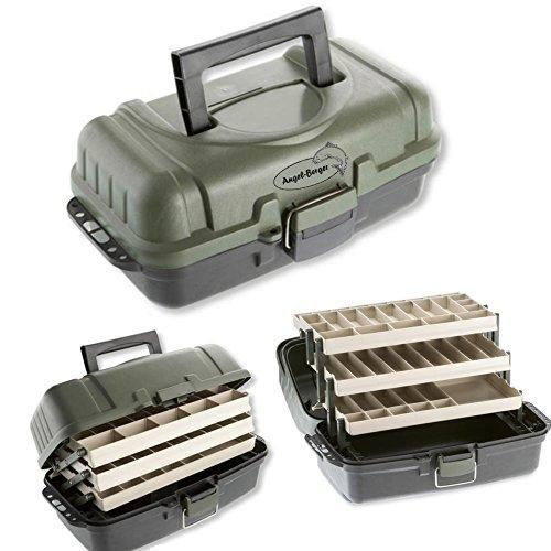 Deluxe Gerätekoffer Angelkoffer Angeltasche verschiedene Größen (3 ladig)