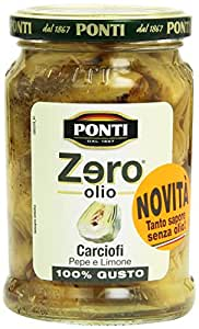 Ponti  Zero Olio  300Gr Carciofi Pepe E Lim.